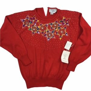 Vintage 80s Bedazzled sweater